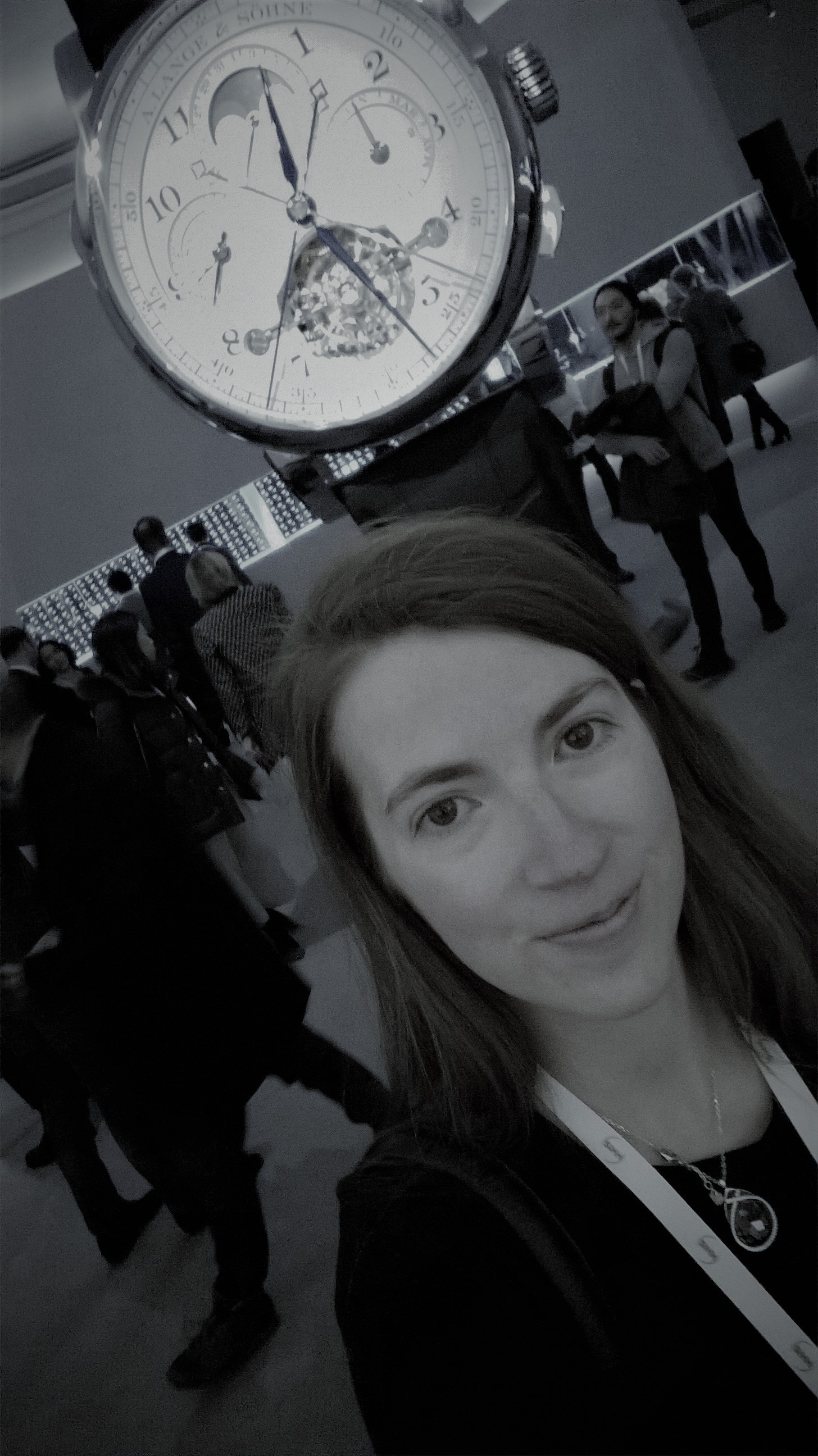"In front of A. Lange & Söhne giant Tourbograph Perpetual ""Pour le Mérite"""